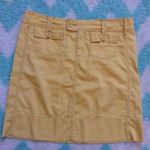 paper boy ANTHROPOLOGIE yellow chino skirt S